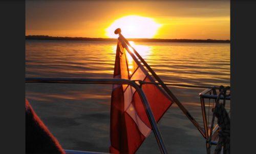 Sejlerskolen på solnedgangstur