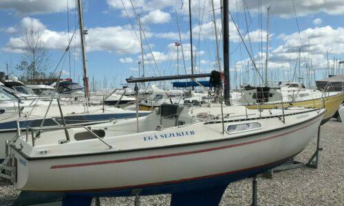 Sejlklubbens nuværende Drabant 24 søger ny ejer